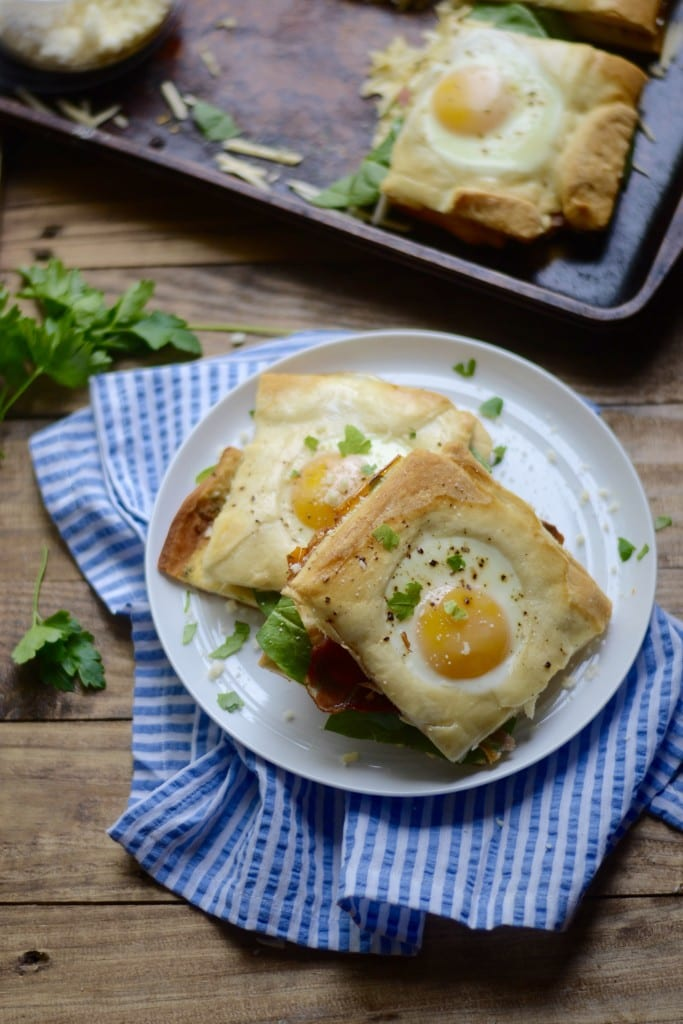 Baked Toad in a Hole Breakfast Sandwiches - Sarcastic Cooking #BrunchWeek