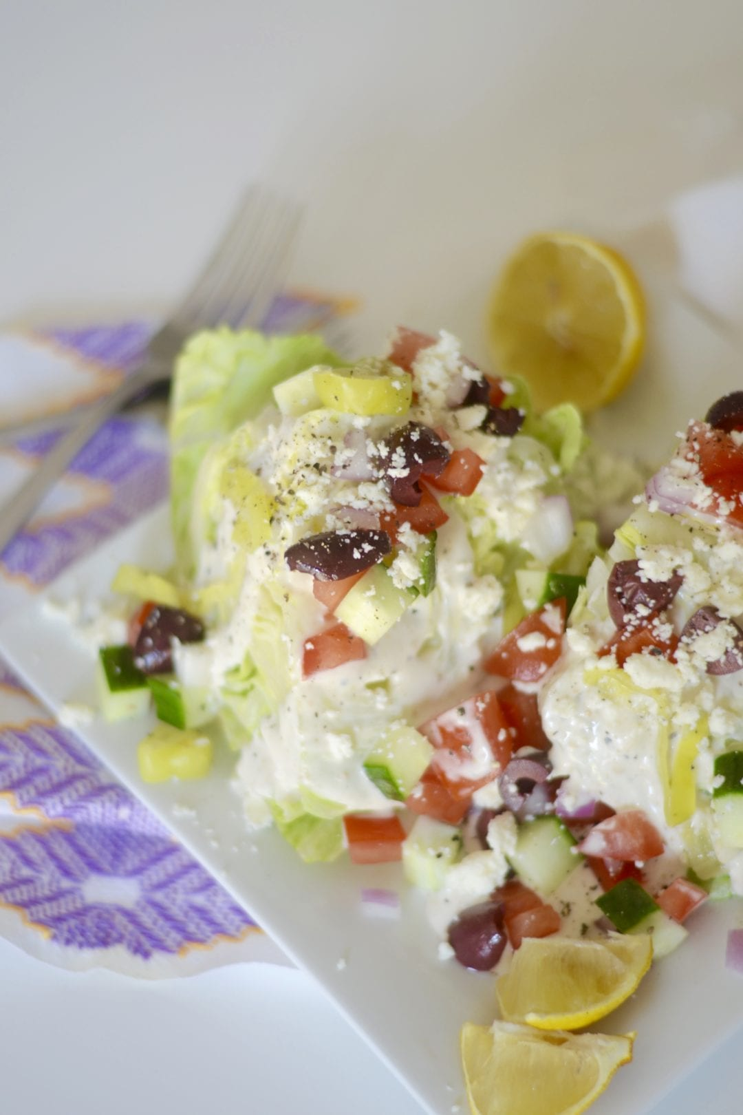 Greek Caesar Wedge Salad | Sarcastic Cooking