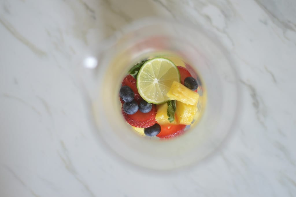 Blueberry Pineapple Sangria Fruit | Sarcastic Cooking