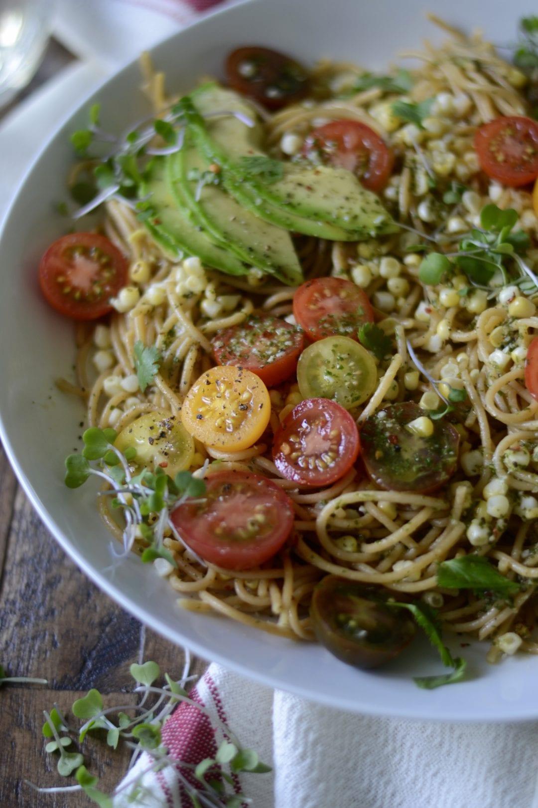 Charred Corn And Avocado Salad With Lime, Chili And Tomato Recipe ...