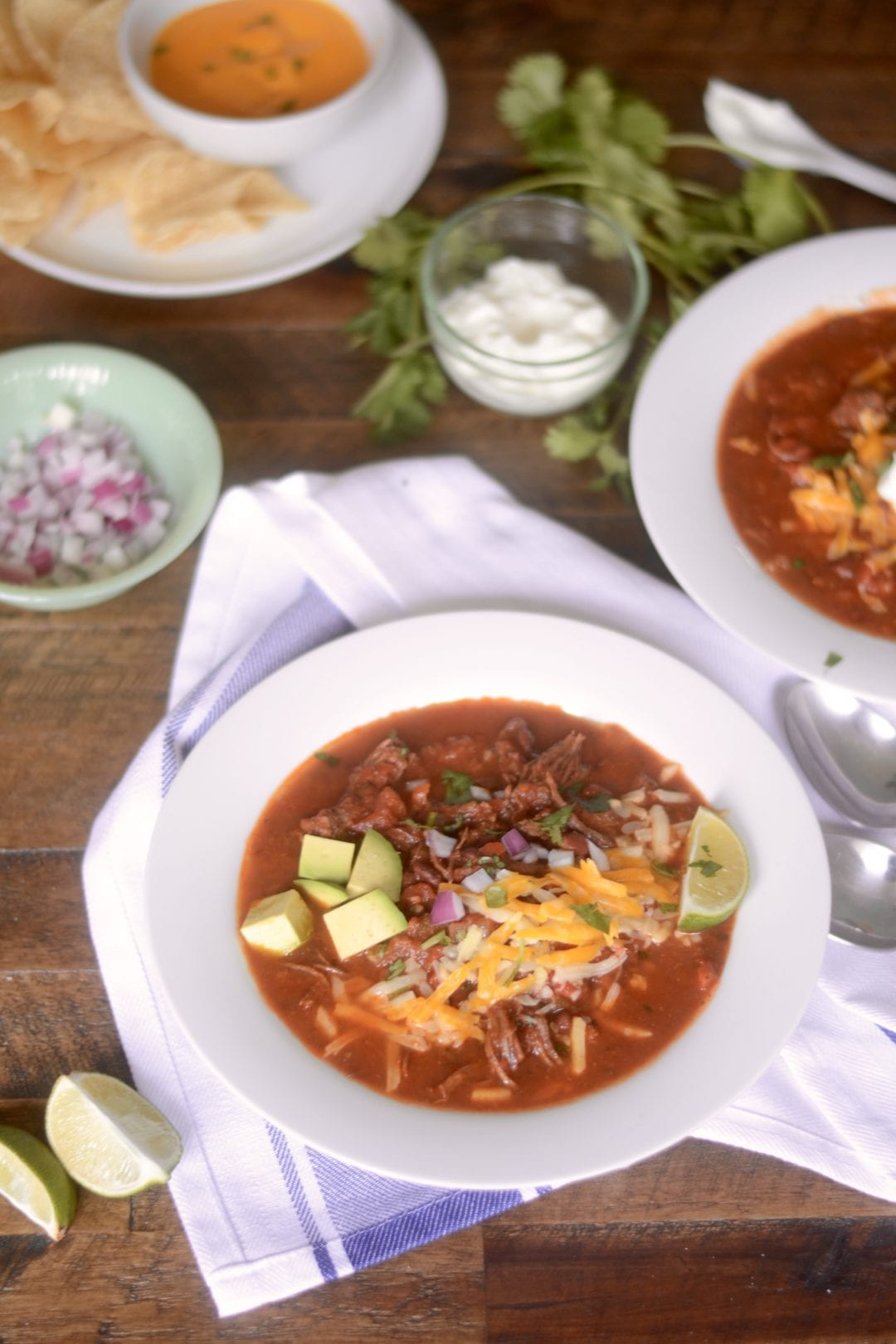 Slow Cooker Carne Asada Chili - The steak lover's chili! - Sarcastic cooking