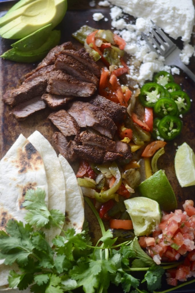 Sheet Pan Steak Fajitas (5 minutes of prep and 20 minute cook time) - Sarcastic Cooking