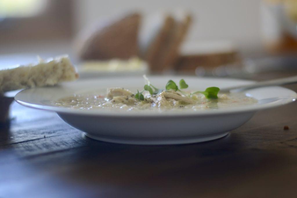 Creamy Lemon Chicken Quinoa Soup   Sarcastic Cooking