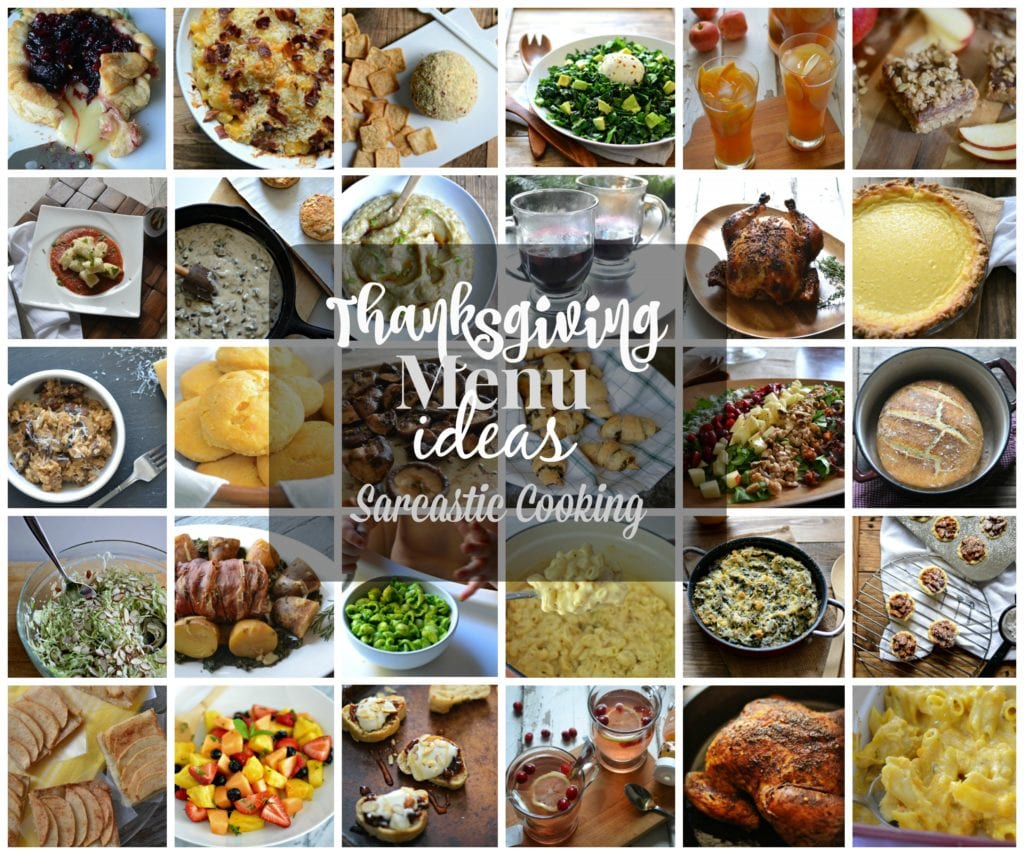 thanksgiving menu ideas sarcastic cooking