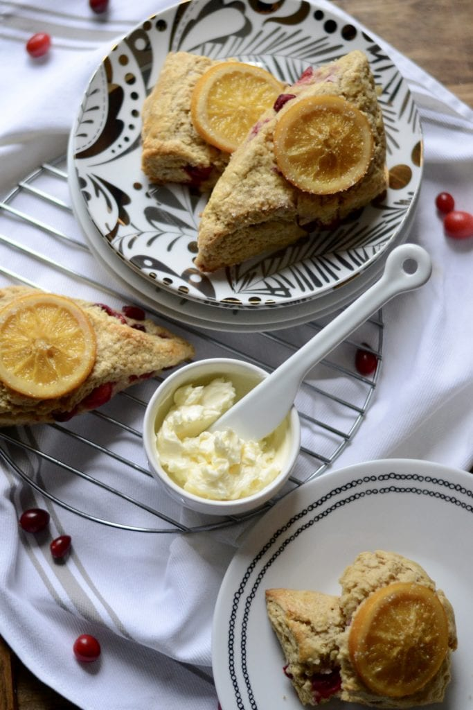 Candied Orange and Cranberry Scones | Sarcastic Cooking