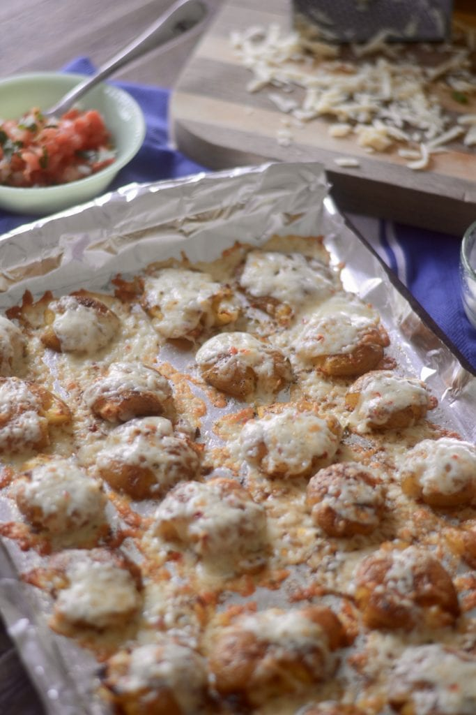 Cheese Smothered, Smashed Potatoes | Sarcastic Cooking