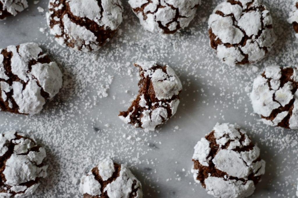 Chocolate-Coffee Crinkle Cookies | Sarcastic Cooking