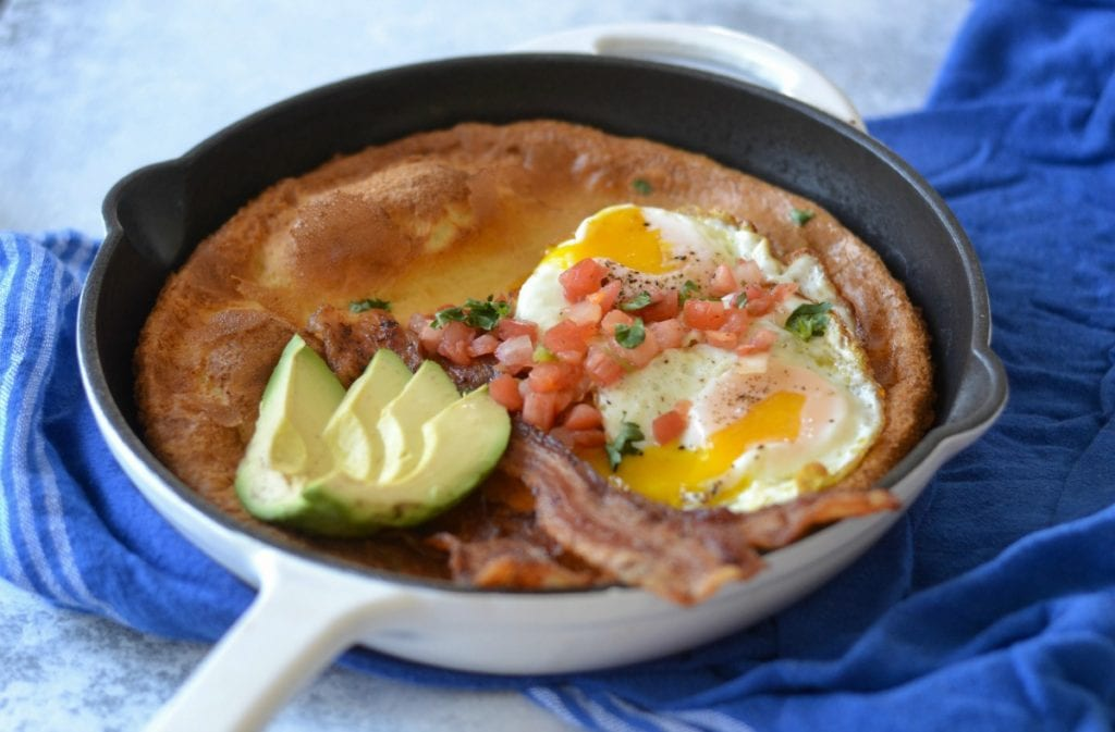 Savory Bacon and Eggs Blender Dutch Baby | Sarcastic Cooking