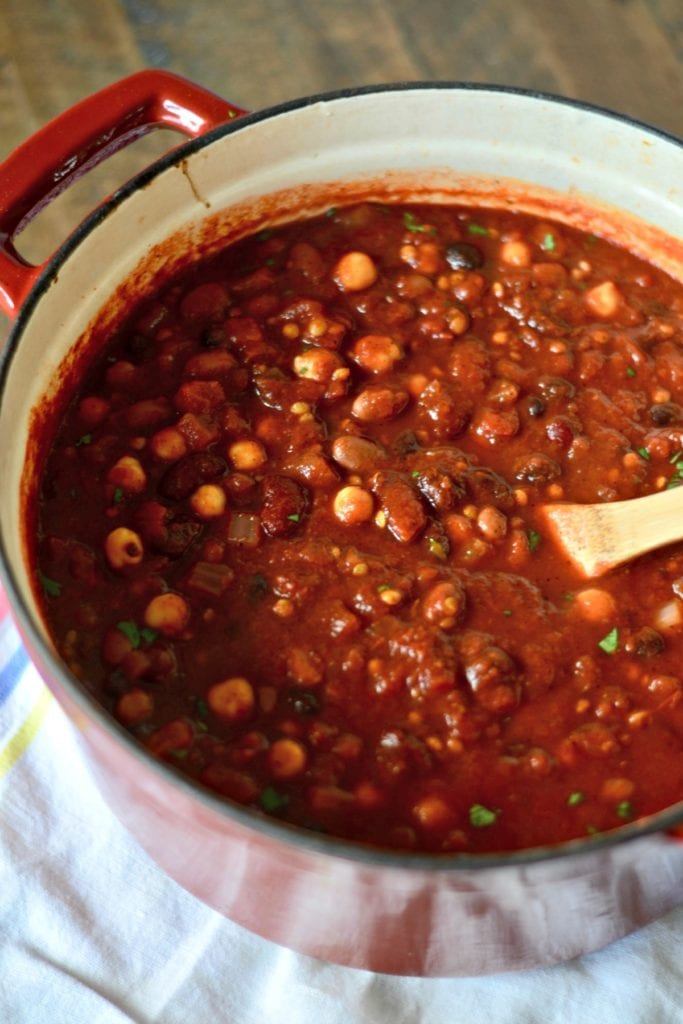 Slow Cooker Five Bean Chili   Sarcastic Cooking