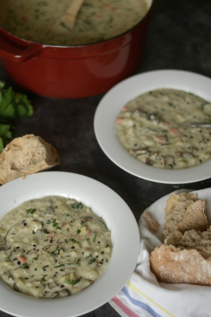 creamy vegetable and wild rice soup sarcastic cooking