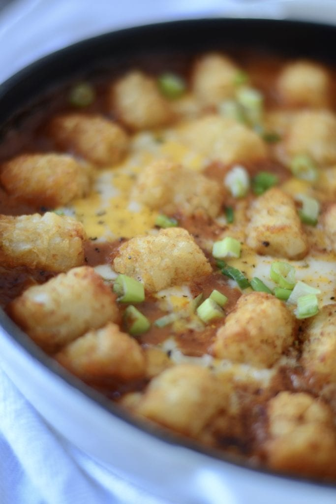Chili Cheese Dip Tater Tot Casserole | Sarcastic Cooking