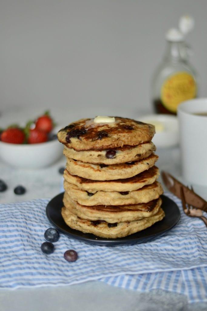 Blueberry Buttermilk Overnight Oat Pancakes @sarcasticcook