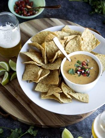last minute labor day recipe ideas - lazy girl queso dip