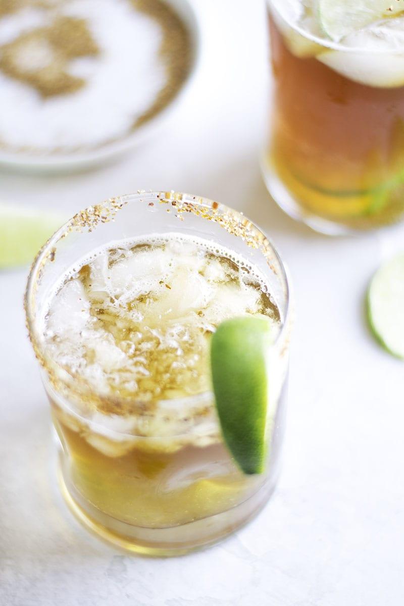 Black and Green Margarita - Sarcastic Cooking #MargaritaWeek #CincodeMayo