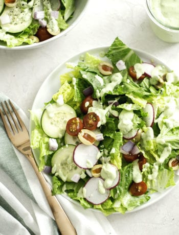 House Salad with Avocado Ranch Dressing - Sarcastic Cooking #meatlessmonday