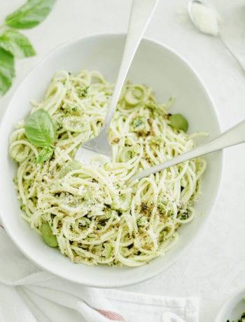 Castelvetrano Olive Tapenade Spaghetti Salad - Sarcastic cooking