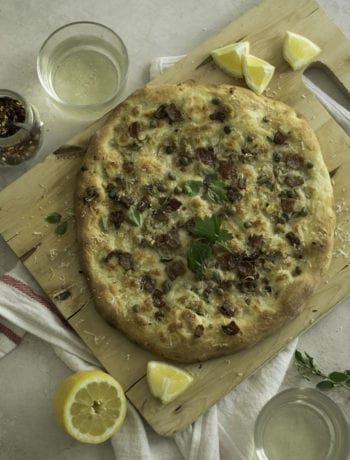 Bacon and Clam White Pizza | Sarcastic Cooking
