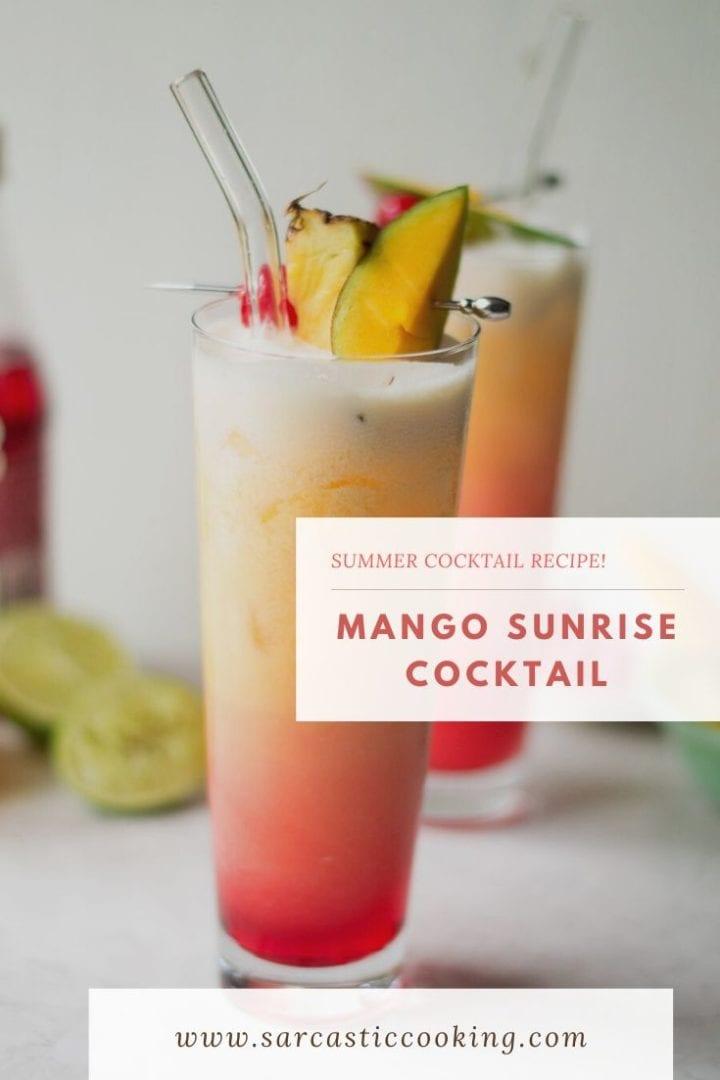 mango sunrise cocktail   sarcastic cooking