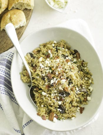 Instant Pot Bacon, Caramelized Onion, Mushroom Orzo | sarcastic Cooking