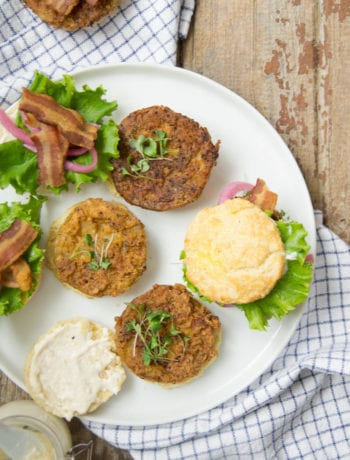 Chile Lime Fried Green Tomato Biscuit Sandwiches with Bacon | Sarcastic cooking