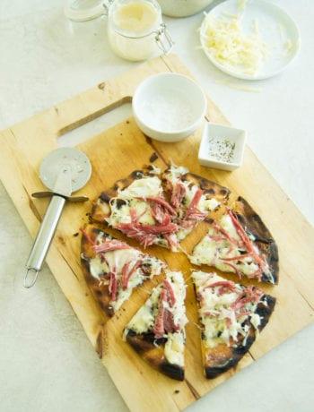 Grilled Reuben Flatbread Pizza   Sarcastic Cooking