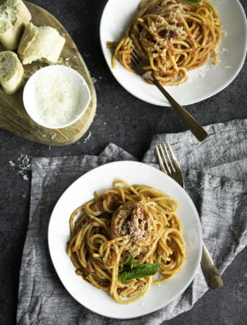 one pot bucatini amatriciana | sarcastic cooking