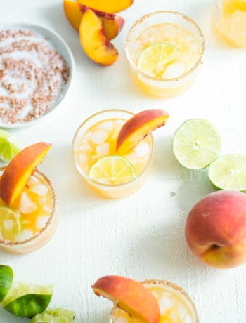 peach lime margaritas - sarcastic cooking