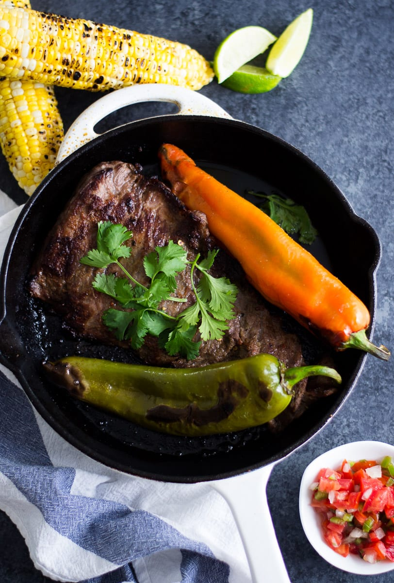 Beer and Lime Marinated Steak with Hatch Chiles  sarcastic Cooking