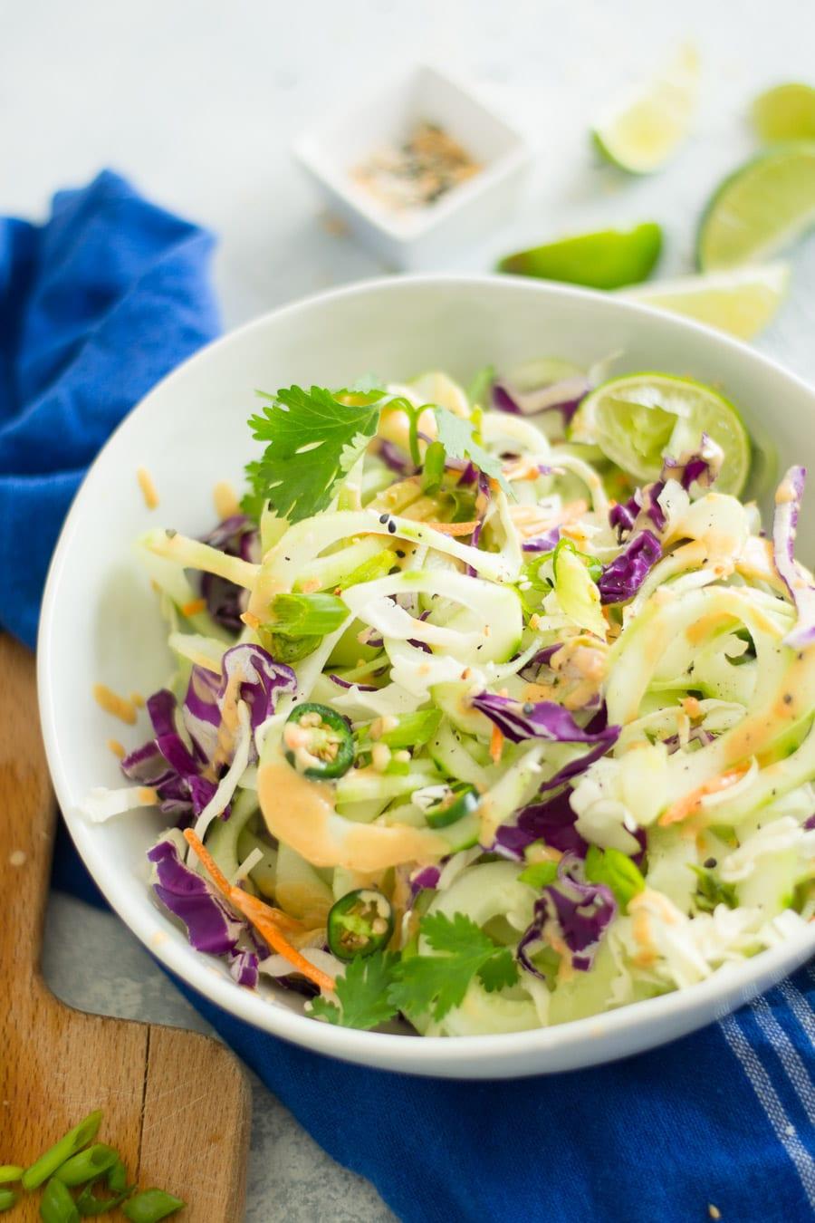 Cold Cucumber Noodle Thai Salad | Sarcastic Cooking