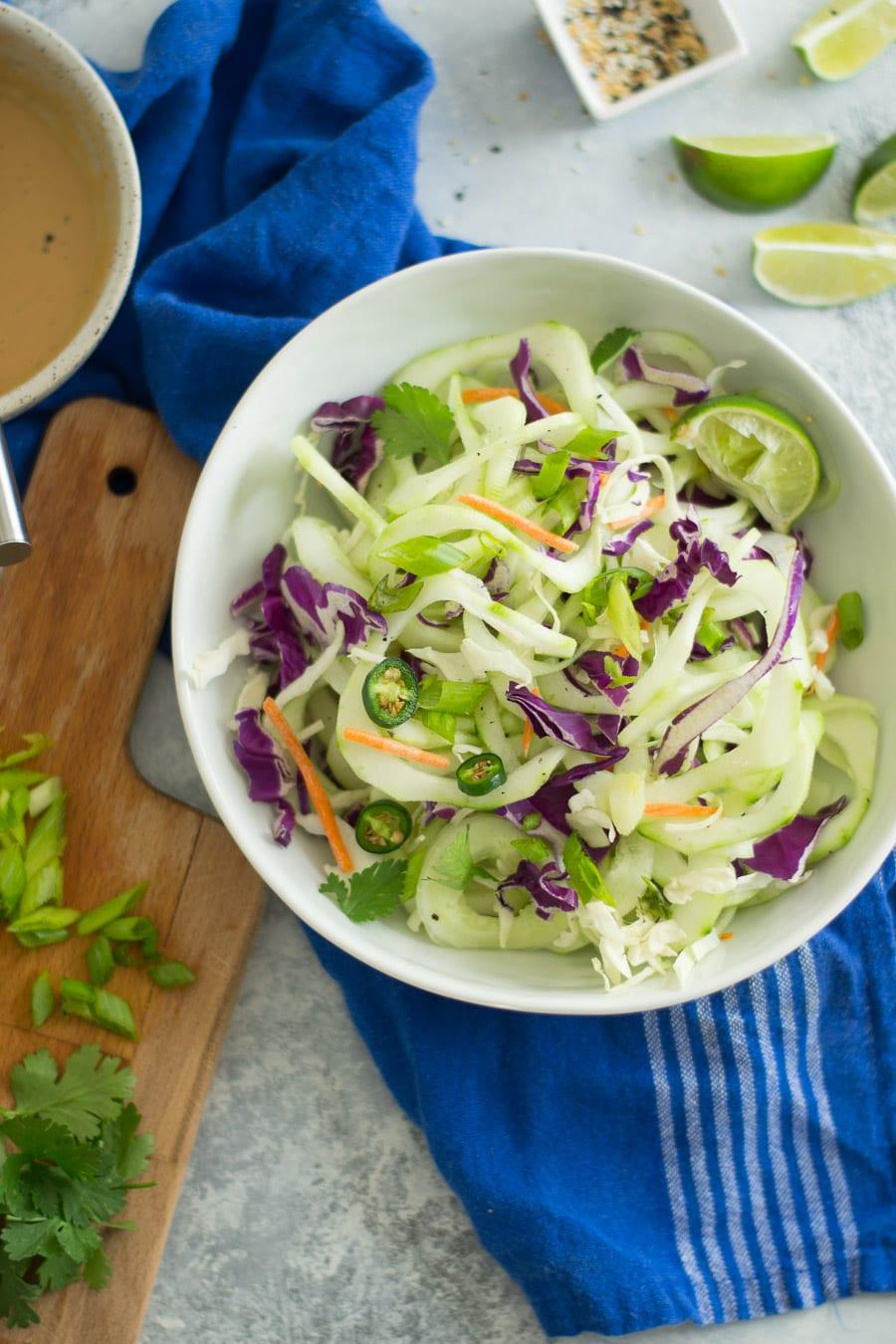 Cold Thai Cucumber Noodle Salad and Vinaigrette | Sarcastic Cooking