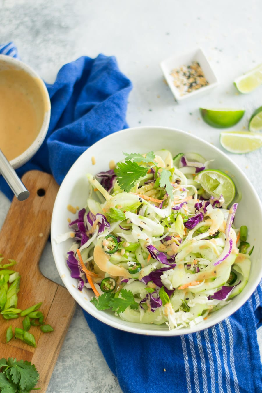 Cold Thai Cucumber Noodle Salad - Sarcastic Cooking