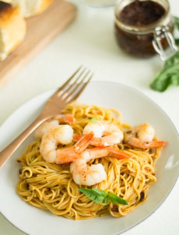 Sun-Dried Tomato Pesto Shrimp Pasta - Sarcastic Cooking