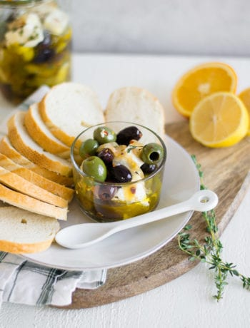 Citrus Marinated Feta and Olives | Sarcastic Cooking