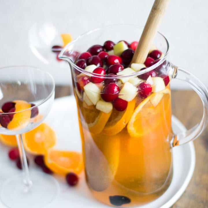 Cranberry Old Fashioned Sangria