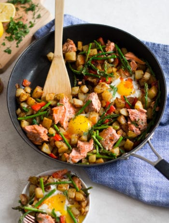 Salmon Hash with Eggs and Asparagus | Sarcastic Cooking #fishrecipe #salmon #hash