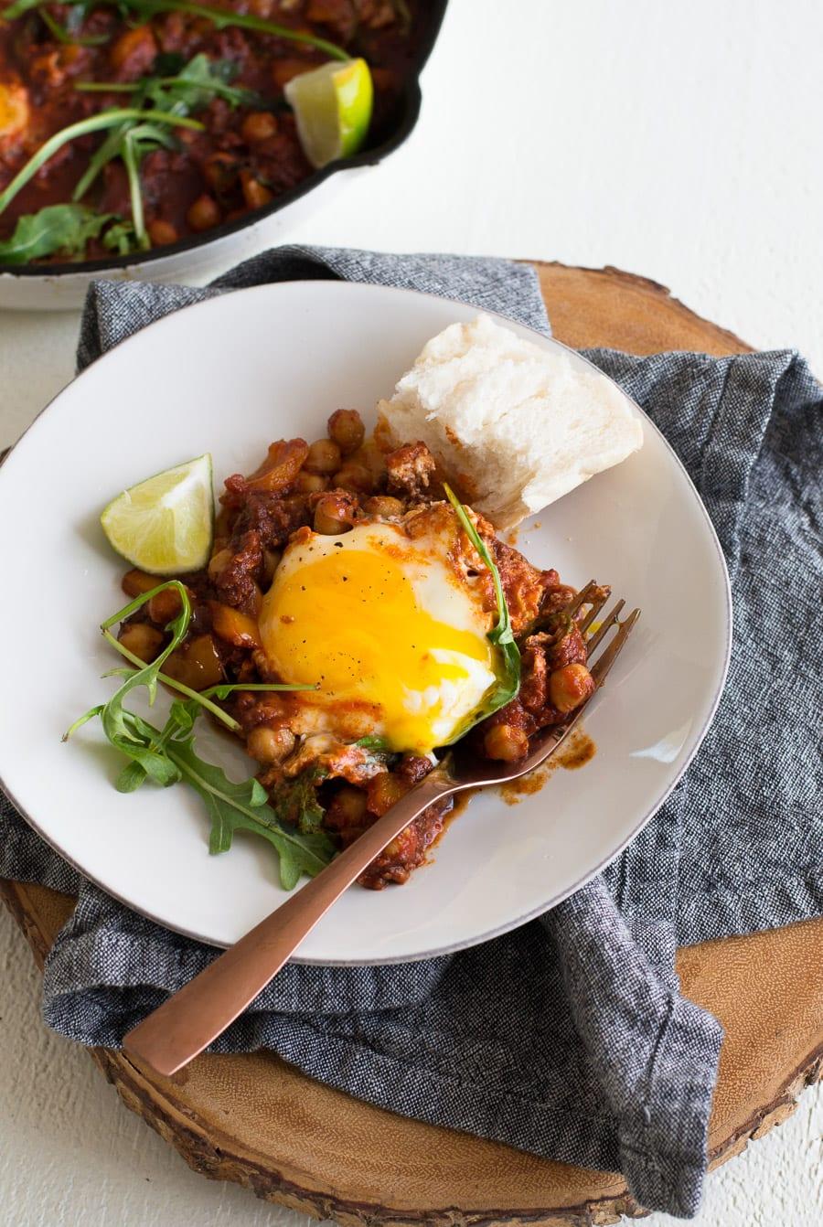 Chickpea and Chorizo Shakshuka | Sarcastic Cooking