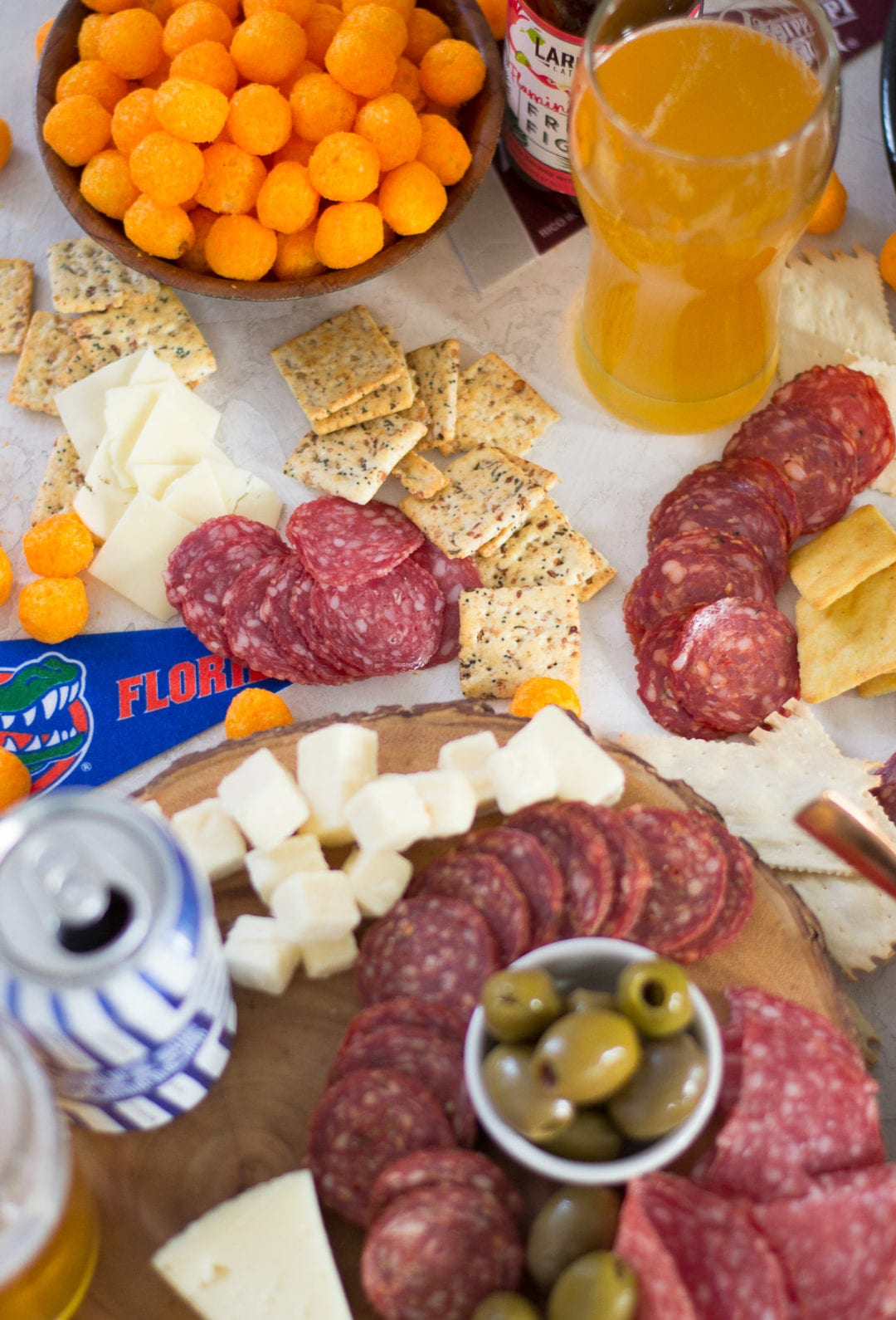 Spicy March Madness Meat and Cheese Board | Sarcastic Cooking