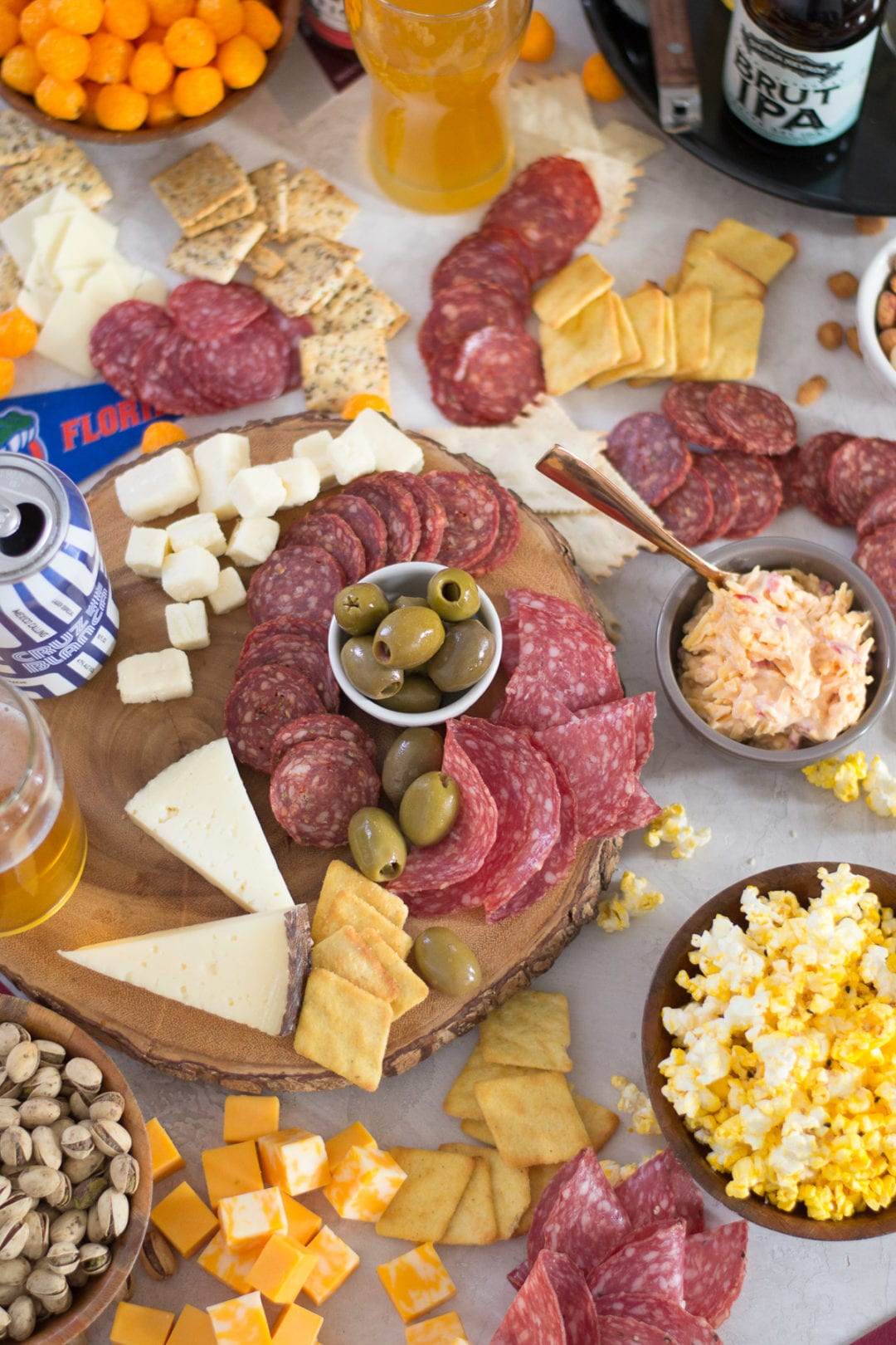 March Madness Meat and Cheese Board | Sarcastic Cooking #marchmadness #appetizer