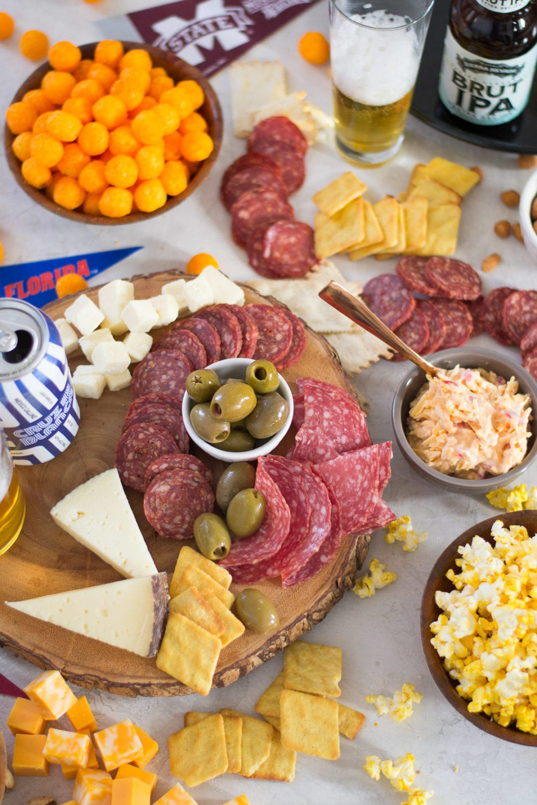 March Madness meat and Cheese Board | Sarcastic Cooking