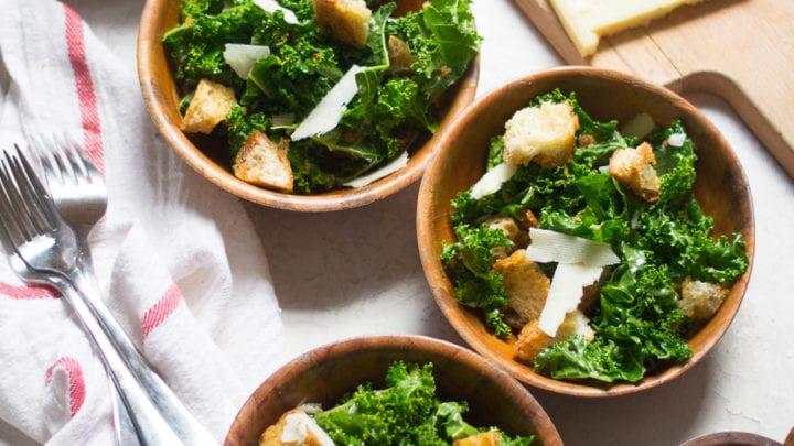 Simple Kale Panzanella