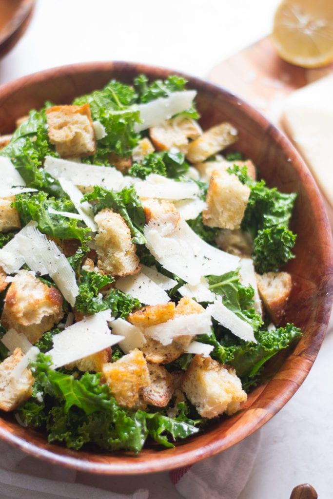 Simple Massaged Kale Panzanella | Sarcastic Cooking