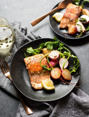 Brown Butter Salmon and Radishes | Sarcastic Cooking