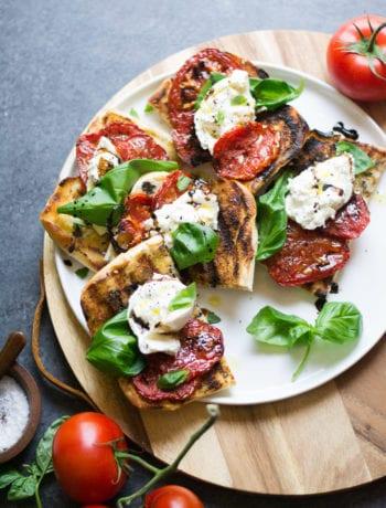 Grilled Tomato & Burrata Sandwiches | Sarcastic Cooking