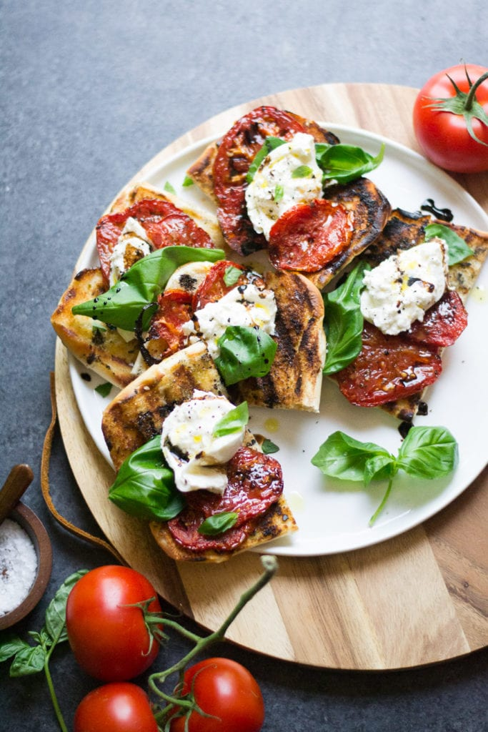 Grilled Tomato & Burrata Sandwiches | Sarcastic Cooking