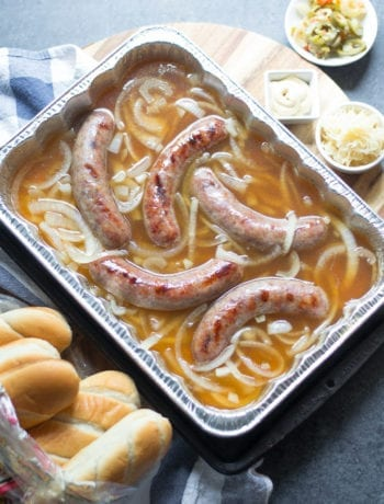 Easy Grilled Beer Brats and Caramelized Onions   Sarcastic Cooking