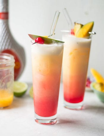 Mango Sunrise Cocktail - Sarcastic Cooking #tiki #cocktail #mango