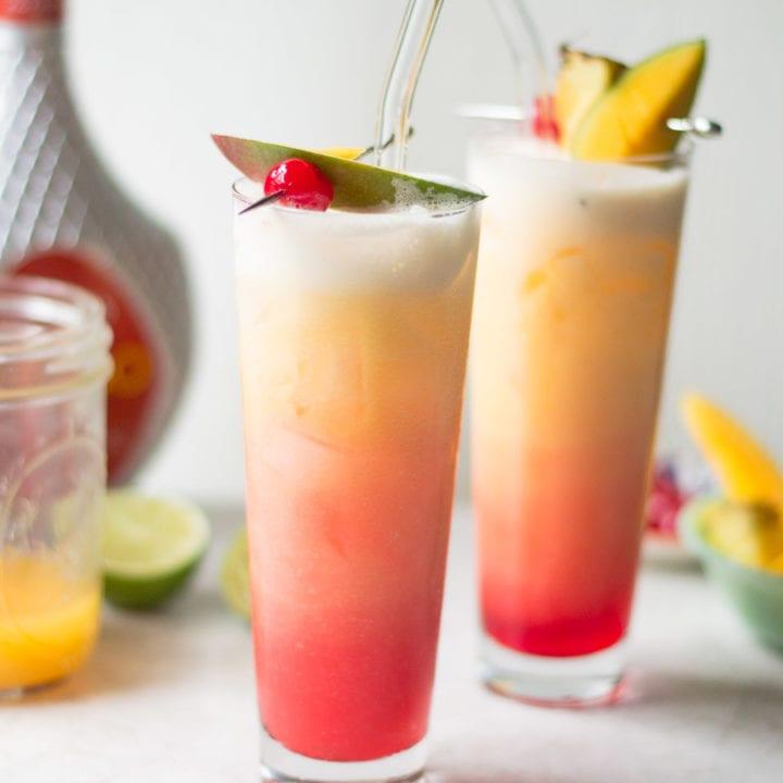 Mango Sunrise Cocktail - Sarcastic Cooking #tiki #cocktail #mango