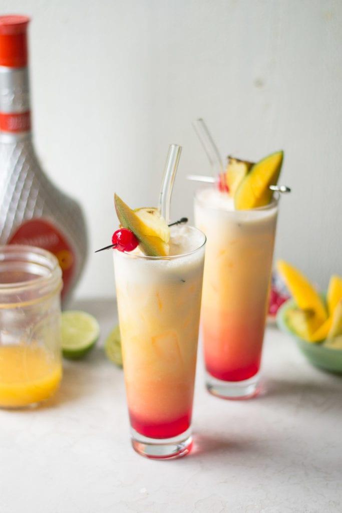 Somrus Mango Sunrise Cocktail   Sarcastic Cooking