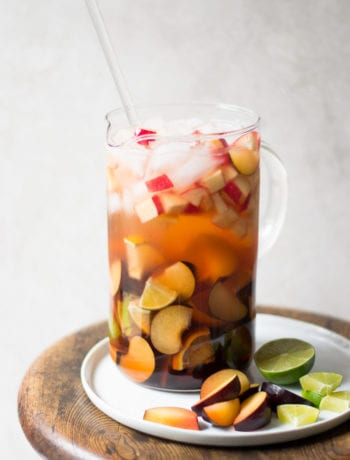 White Wine Plum Sangria | Sarcastic Cooking