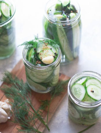 Refrigerator Garlic Dill Pickles | Sarcastic Cooking